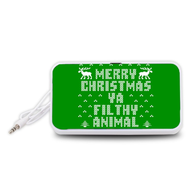 Ugly Christmas Ya Filthy Animal Portable Speaker (White)
