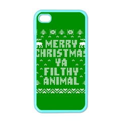 Ugly Christmas Ya Filthy Animal Apple iPhone 4 Case (Color)