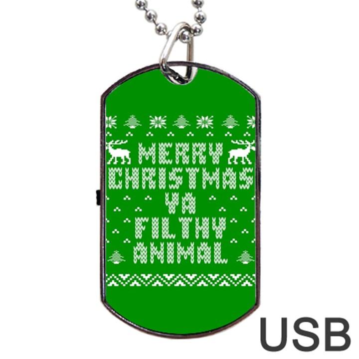 Ugly Christmas Ya Filthy Animal Dog Tag USB Flash (One Side)