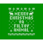 Ugly Christmas Ya Filthy Animal Deluxe Canvas 14  x 11  14  x 11  x 1.5  Stretched Canvas