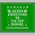 Ugly Christmas Ya Filthy Animal Deluxe Canvas 24  x 20   24  x 20  x 1.5  Stretched Canvas