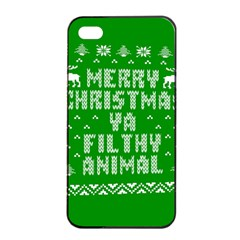 Ugly Christmas Ya Filthy Animal Apple iPhone 4/4s Seamless Case (Black)
