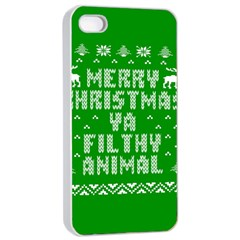 Ugly Christmas Ya Filthy Animal Apple iPhone 4/4s Seamless Case (White)