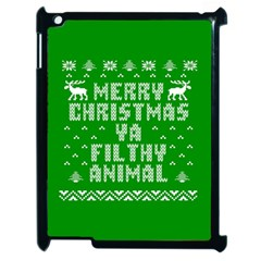Ugly Christmas Ya Filthy Animal Apple iPad 2 Case (Black)