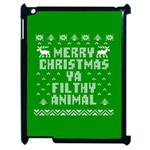 Ugly Christmas Ya Filthy Animal Apple iPad 2 Case (Black) Front