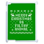 Ugly Christmas Ya Filthy Animal Apple iPad 2 Case (White) Front