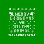 Ugly Christmas Ya Filthy Animal Happy Birthday 3D Greeting Card (8x4) Inside