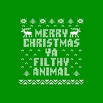 Ugly Christmas Ya Filthy Animal MOM 3D Greeting Card (8x4) Inside