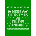 Ugly Christmas Ya Filthy Animal BOY 3D Greeting Card (7x5) Inside