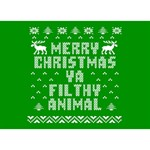 Ugly Christmas Ya Filthy Animal BOY 3D Greeting Card (7x5) Back