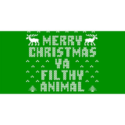 Ugly Christmas Ya Filthy Animal YOU ARE INVITED 3D Greeting Card (8x4)