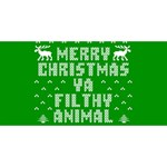 Ugly Christmas Ya Filthy Animal Twin Heart Bottom 3D Greeting Card (8x4) Back