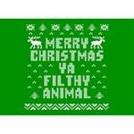 Ugly Christmas Ya Filthy Animal LOVE Bottom 3D Greeting Card (7x5) Front