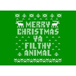 Ugly Christmas Ya Filthy Animal Peace Sign 3D Greeting Card (7x5) Back