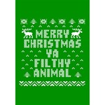 Ugly Christmas Ya Filthy Animal WORK HARD 3D Greeting Card (7x5) Inside