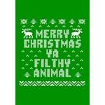 Ugly Christmas Ya Filthy Animal TAKE CARE 3D Greeting Card (7x5) Inside