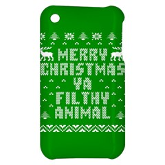 Ugly Christmas Ya Filthy Animal Apple iPhone 3G/3GS Hardshell Case