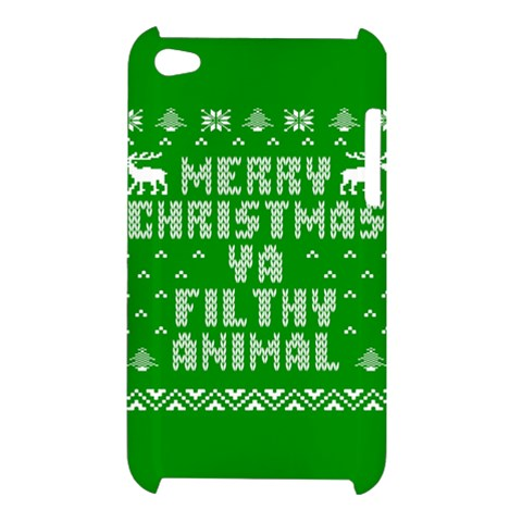 Ugly Christmas Ya Filthy Animal Apple iPod Touch 4