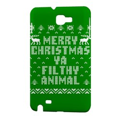 Ugly Christmas Ya Filthy Animal Samsung Galaxy Note 1 Hardshell Case