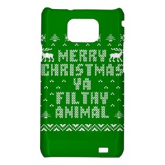 Ugly Christmas Ya Filthy Animal Samsung Galaxy S2 i9100 Hardshell Case
