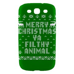 Ugly Christmas Ya Filthy Animal Samsung Galaxy S III Hardshell Case