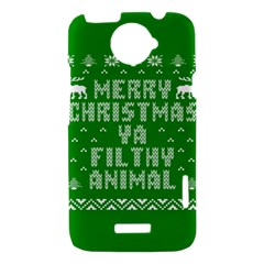 Ugly Christmas Ya Filthy Animal HTC One X Hardshell Case