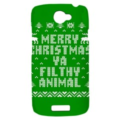 Ugly Christmas Ya Filthy Animal HTC One S Hardshell Case