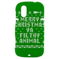 Ugly Christmas Ya Filthy Animal HTC Amaze 4G Hardshell Case