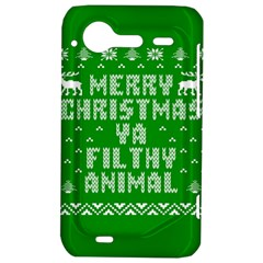 Ugly Christmas Ya Filthy Animal HTC Incredible S Hardshell Case
