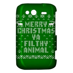 Ugly Christmas Ya Filthy Animal HTC Wildfire S A510e Hardshell Case