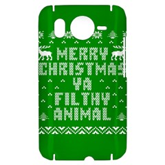 Ugly Christmas Ya Filthy Animal HTC Desire HD Hardshell Case