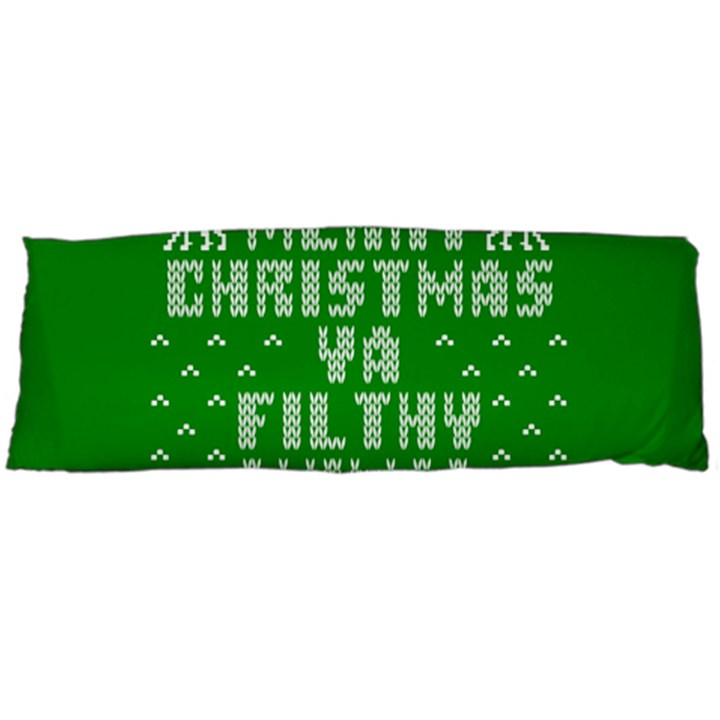 Ugly Christmas Ya Filthy Animal Body Pillow Case (Dakimakura)