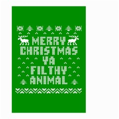 Ugly Christmas Ya Filthy Animal Small Garden Flag (Two Sides)