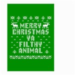 Ugly Christmas Ya Filthy Animal Small Garden Flag (Two Sides) Front