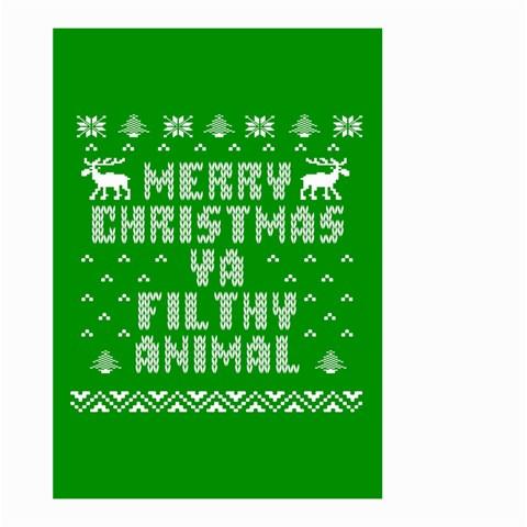 Ugly Christmas Ya Filthy Animal Large Garden Flag (Two Sides)