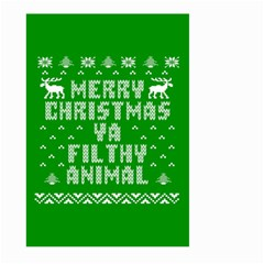 Ugly Christmas Ya Filthy Animal Large Garden Flag (Two Sides)