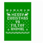Ugly Christmas Ya Filthy Animal Large Garden Flag (Two Sides) Front