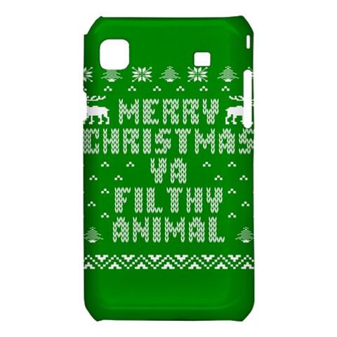 Ugly Christmas Ya Filthy Animal Samsung Galaxy S i9008 Hardshell Case