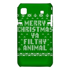 Ugly Christmas Ya Filthy Animal Samsung Galaxy S i9008 Hardshell Case