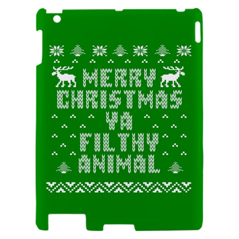 Ugly Christmas Ya Filthy Animal Apple iPad 2 Hardshell Case