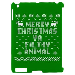 Ugly Christmas Ya Filthy Animal Apple iPad 2 Hardshell Case (Compatible with Smart Cover)