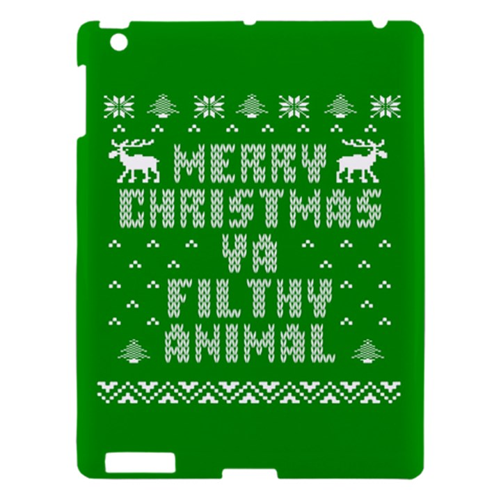 Ugly Christmas Ya Filthy Animal Apple iPad 3/4 Hardshell Case