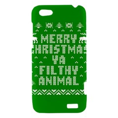 Ugly Christmas Ya Filthy Animal HTC One V Hardshell Case
