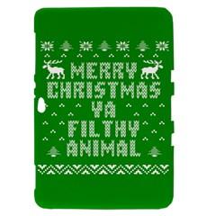Ugly Christmas Ya Filthy Animal Samsung Galaxy Tab 8.9  P7300 Hardshell Case