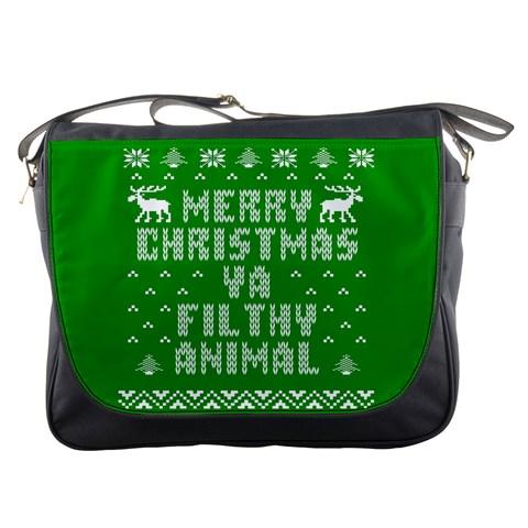 Ugly Christmas Ya Filthy Animal Messenger Bags