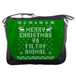 Ugly Christmas Ya Filthy Animal Messenger Bags Front