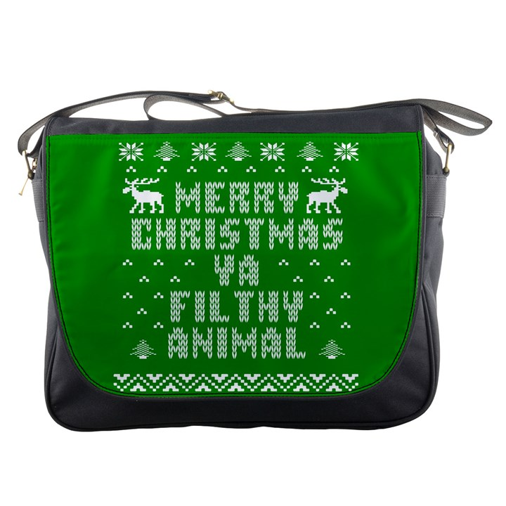 Ugly Christmas Ya Filthy Animal Messenger Bags