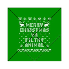 Ugly Christmas Ya Filthy Animal Acrylic Tangram Puzzle (6  X 6 )