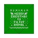 Ugly Christmas Ya Filthy Animal Acrylic Tangram Puzzle (6  x 6 ) Front
