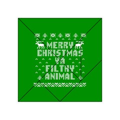 Ugly Christmas Ya Filthy Animal Acrylic Tangram Puzzle (4  x 4 )